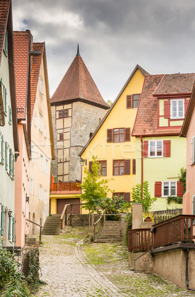 Historic old town of Dikelsbuehl Stock photo © manfredxy