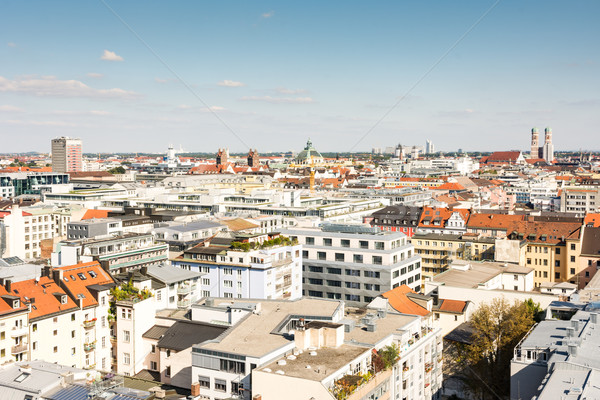 Aerial view over Munich Stock photo © manfredxy