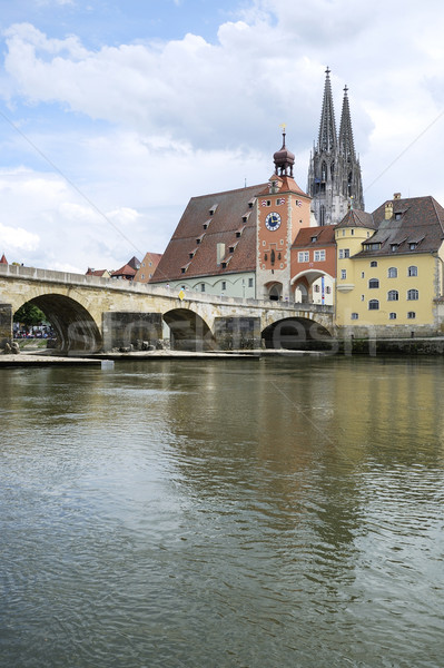 Danube in Regensburg Stock photo © manfredxy