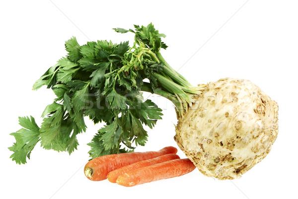 Sedano carota isolato sani radice verdura Foto d'archivio © manfredxy