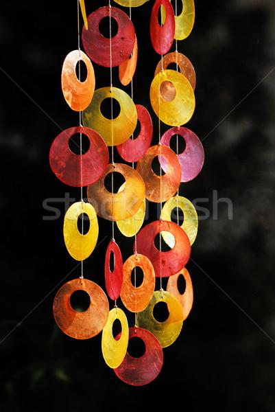 Ablak dekoráció színes művészet lemez szín Stock fotó © manfredxy