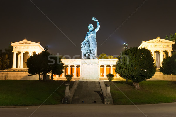 Illuminated Bavaria sculpture in Munich Stock photo © manfredxy
