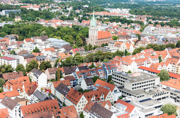 Aerial view over the city of Ulm Stock photo © manfredxy