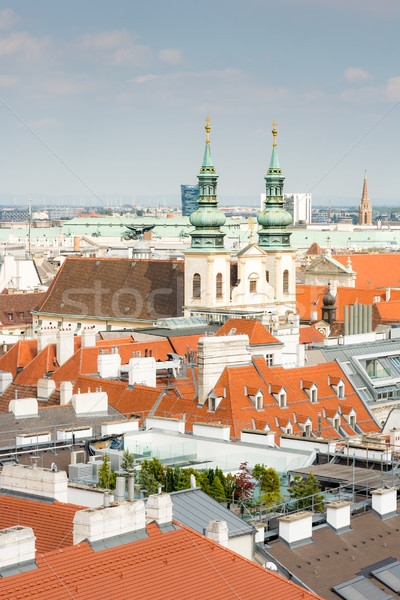 Jesuit Church and cityscape of Vienna Stock photo © manfredxy