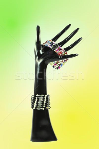 искусственный стороны черный браслет моде зеленый Сток-фото © manfredxy