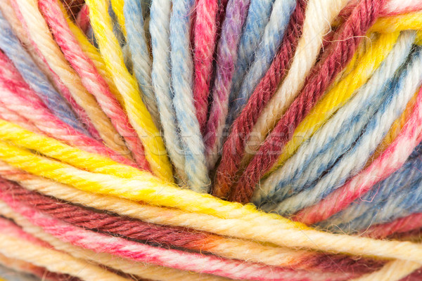 Palla lana primo piano sfondo pattern string Foto d'archivio © manfredxy