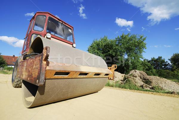 Stock fotó: út · ipari · kerék · gép · felszerlés · nyomás