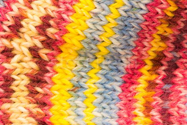 Maglia multicolore primo piano pattern string Foto d'archivio © manfredxy