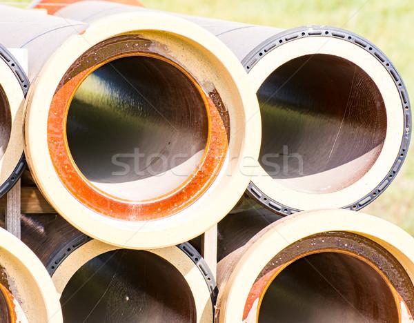 Трубы строительная площадка промышленности промышленных Сток-фото © manfredxy