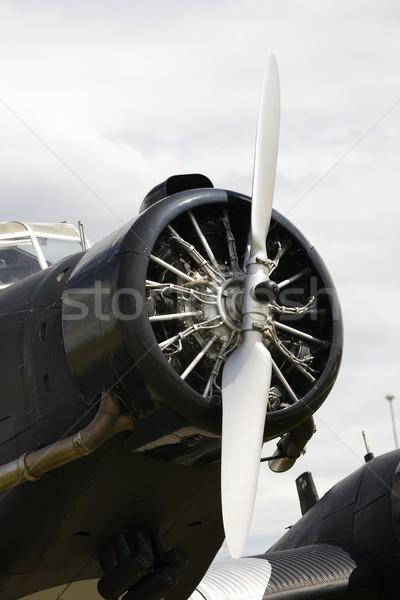 Vintage avion hélice vieux historique métal Photo stock © manfredxy