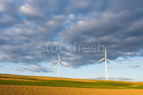 Alternative Energy with wind power Stock photo © manfredxy