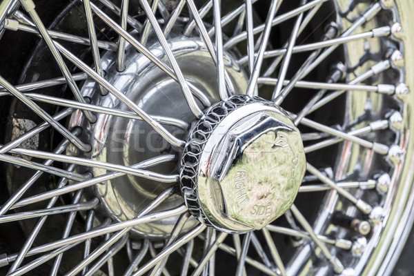 Vintage Car Tire Stock photo © manfredxy