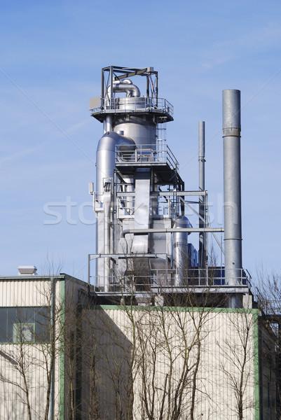Vegyipar ipari épület égbolt technológia ipar Stock fotó © manfredxy