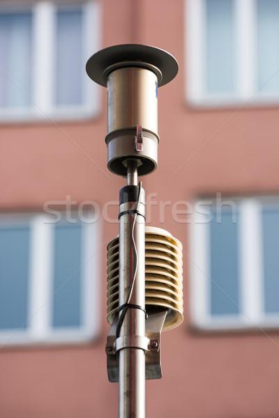 Hangszer mér kibocsátás levegő szennyezés technológia Stock fotó © manfredxy