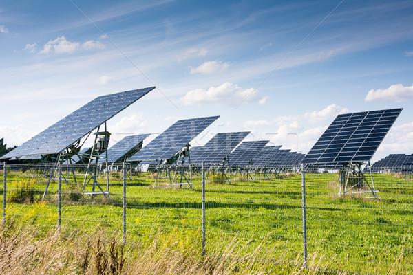 グリーンエネルギー 太陽光発電 革新的な エネルギー 創造 太陽 ストックフォト © manfredxy
