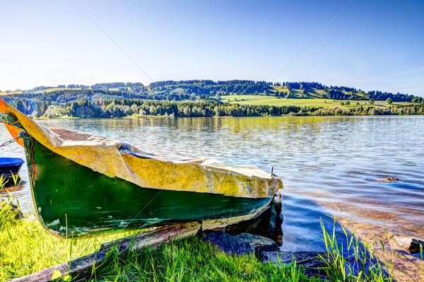 Roeiboot meer water landschap boot Stockfoto © manfredxy