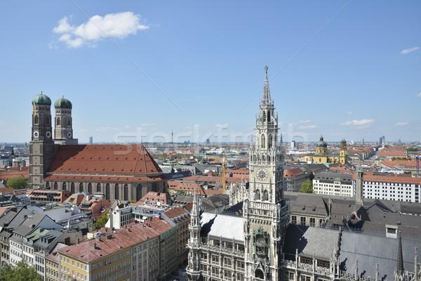Мюнхен ратуша городского архитектура крыши Cityscape Сток-фото © manfredxy