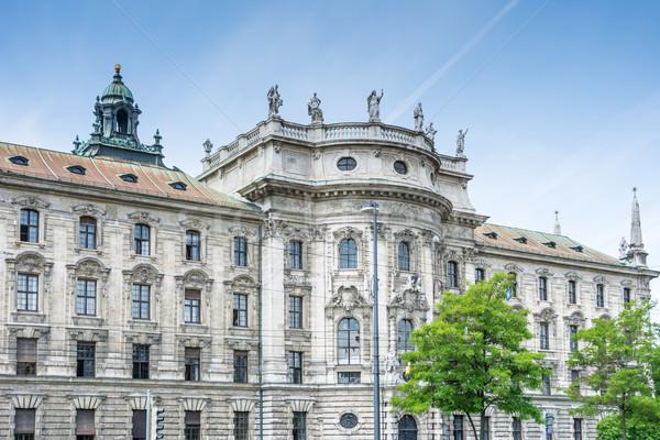 Palast Gerechtigkeit München Architektur Stock foto © manfredxy
