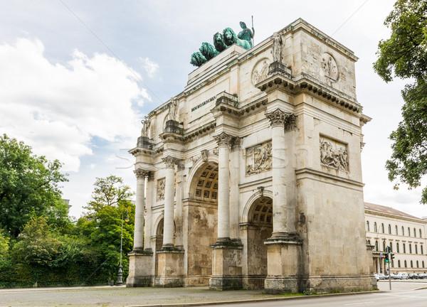 Munich victoria puerta Alemania ciudad urbanas Foto stock © manfredxy