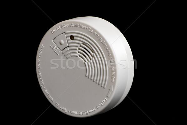 Füst detektor tűz biztonság hang fehér Stock fotó © manfredxy