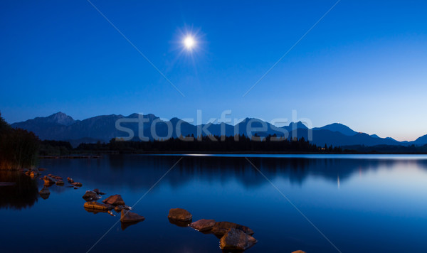 Moonlight at Lake Hopfen Stock photo © manfredxy