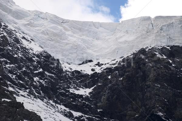 Ghiacciaio alpi meridionale panorama neve rock Foto d'archivio © manfredxy