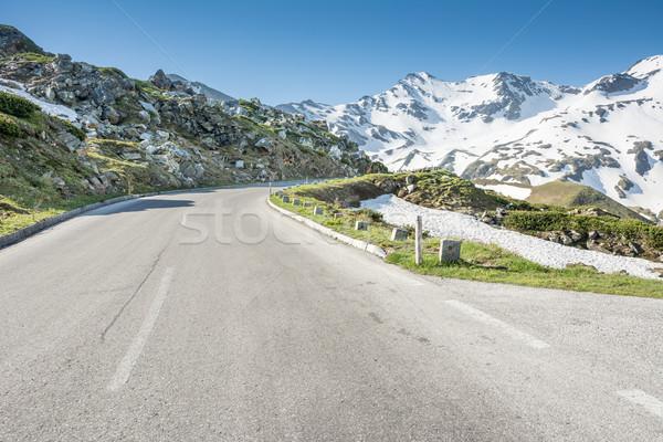 高い 高山 道路 山 合格 オーストリア ストックフォト © manfredxy