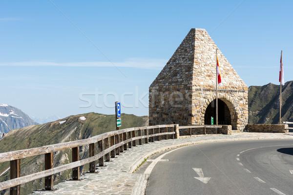 Yüksek alpine yol kule dağ dağlar Stok fotoğraf © manfredxy