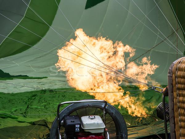 Balonem nadzienie w górę gazu sportu koszyka Zdjęcia stock © manfredxy
