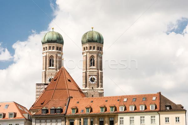Мюнхен towers здании Lady собора Германия Сток-фото © manfredxy