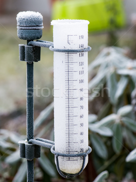 Frozen rain gauge in the garden Stock photo © manfredxy
