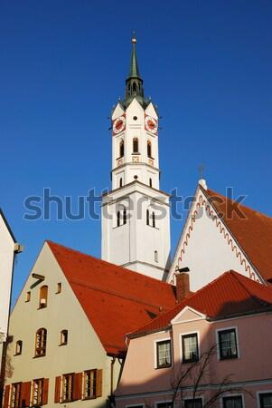 Cidade velha ouvir Munique famoso edifício europa Foto stock © manfredxy
