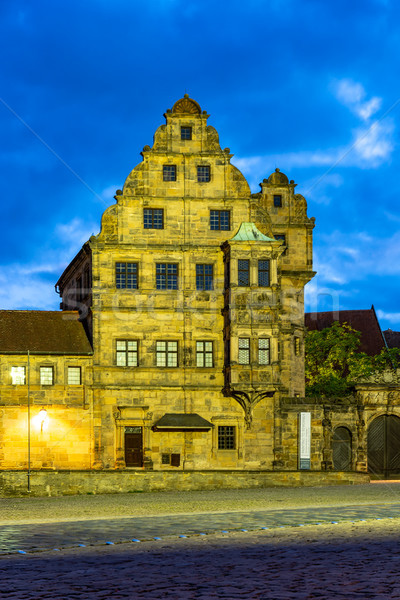 Illumiated historic building at night Stock photo © manfredxy