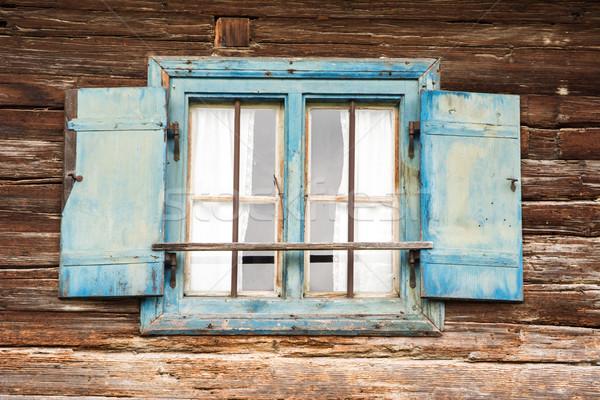 古い 風化した 未亡人 伝統的な ファーム 家 ストックフォト © manfredxy