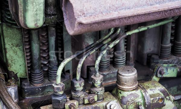 詳細 歴史的 トラクター モータ 古い 油 ストックフォト © manfredxy