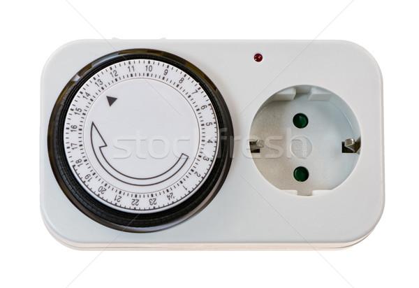 孤立した 電気 プラグイン 時間 クローズアップ ツール ストックフォト © manfredxy