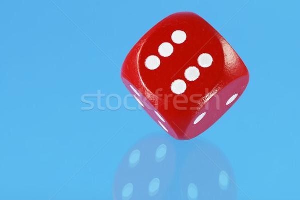 Rosso dadi macro cubo numero riflessione Foto d'archivio © manfredxy