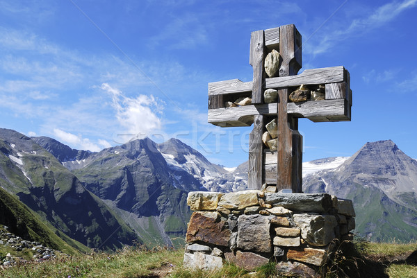 Cross in the alps Stock photo © manfredxy