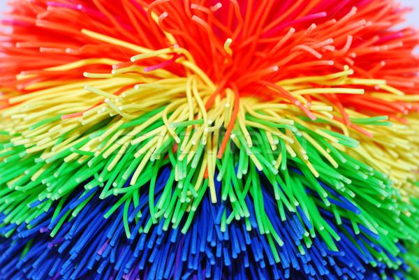 еж мяча макроса аннотация синий Сток-фото © manfredxy