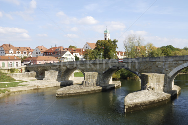 Stone Bridge of Regensburg Stock photo © manfredxy