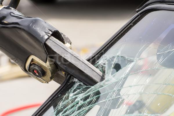гидравлический спасательные автомобилей аварии Gear инструментом Сток-фото © manfredxy