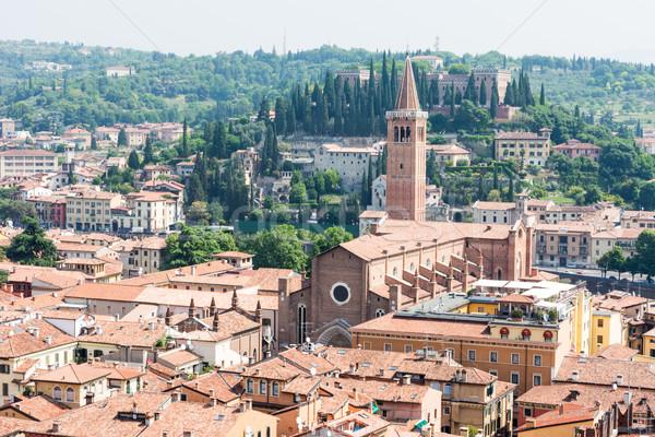 Cityscape verona ver cidade Itália edifício Foto stock © manfredxy