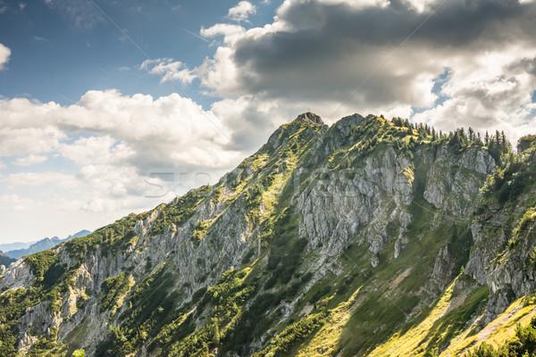 Alpesi hegy kilátás Stock fotó © manfredxy