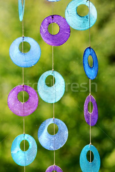 Art deco vicces ablak dekoráció színes absztrakt Stock fotó © manfredxy