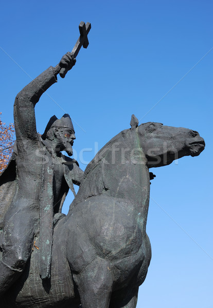 Sculptuur koepel paard Blauw arm religieuze Stockfoto © manfredxy