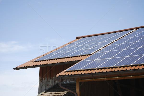 太陽エネルギー 再生可能エネルギー 太陽光発電 技術 エネルギー 環境 ストックフォト © manfredxy