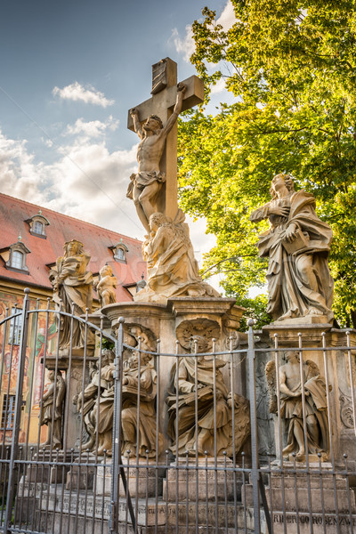 Crucifixion group in Bamberg Stock photo © manfredxy