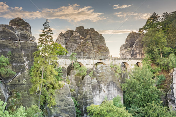 Medieval Bastei Bridge Stock photo © manfredxy