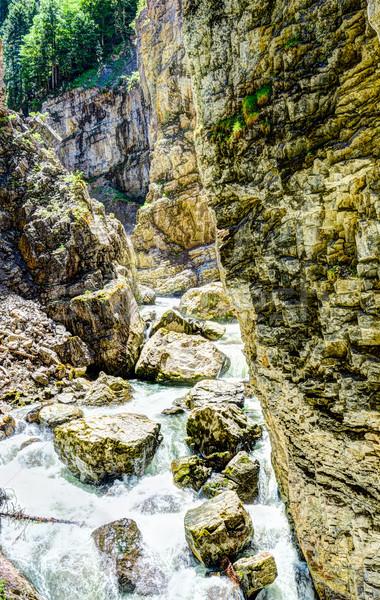 Rivier wild water Europa rotsen Stockfoto © manfredxy