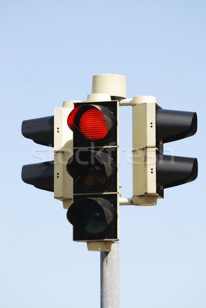 светофора остановки символ красный безопасности Сток-фото © manfredxy
